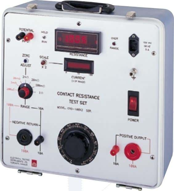 0-200A. • Zero - start application of current. Description The Digital Contact Resistance - Micro-ohmmeter has
