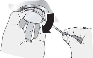 1. Carefully remove the bulb ring with a suitable tool. 2. Replace the defective bulb with