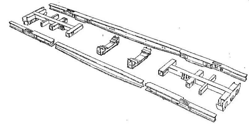 Figure 2.2 - Exploded View of Girder Chassis The second type of beam structure is