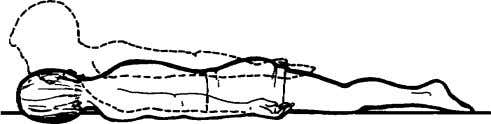 tilt supine with the knees straight. Repeat 1A, B, and C. 3. Spine extension in the