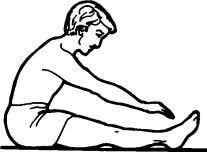can do this well, combine all three into one deep breath. 5. Hamstring stretch. A. Sitting