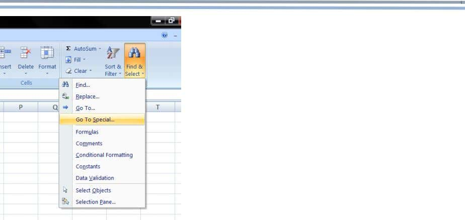 Extracting SAP's Configuration IMG to Excel Select the blanks option Paste formula to blanks using control