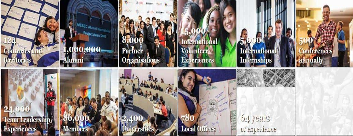 " Nos Valeurs:  AIESEC en Chiffres: ""In an era of globalization AIESEC's programs have helped"