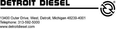 available through authorized Detroit Diesel service outlets. 1. Unplug the connector from the turbo boost pressure