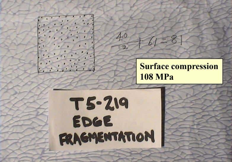 Surface compression 108 MPa