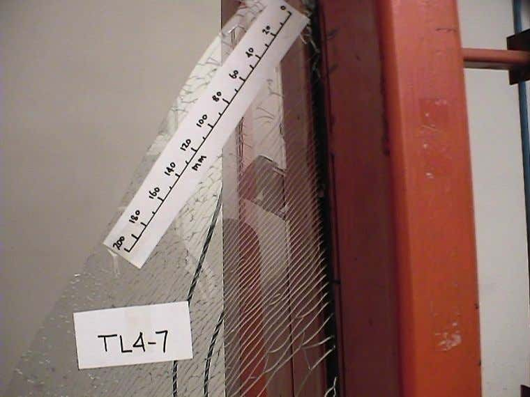 Long Particles – Pendulum Impact Test 4 mm Toughened Glass (TL4-7 Feb 04) – Surface compression