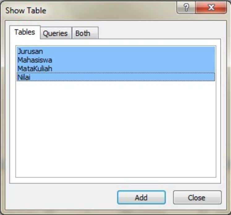 KS091302 – Introduction To Information System Practical Work Report Figure 62. Show Table Queries We can