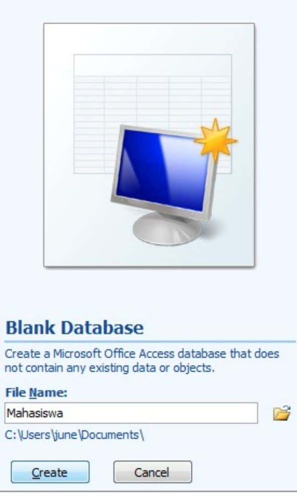 KS091302 – Introduction To Information System Practical Work Report Figure 4. Blank Database Then create a