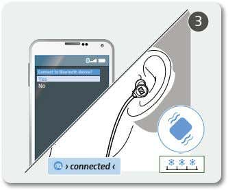 3 Connect to Bluetooth device? Yes No › connected ‹