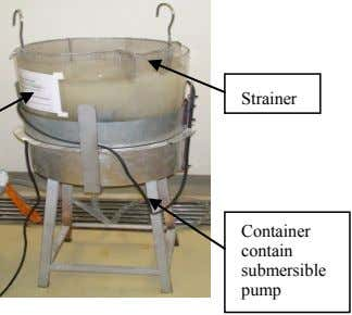 Strainer Container contain submersible pump