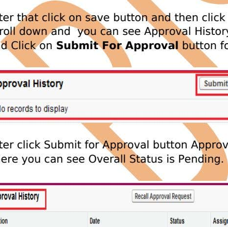 then Submit for Approval button you can drag and drop. After that click on save button
