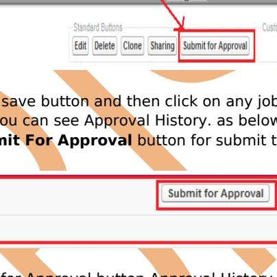 For Approval button for submit this Approval process. After click Submit for Approval button Approval History