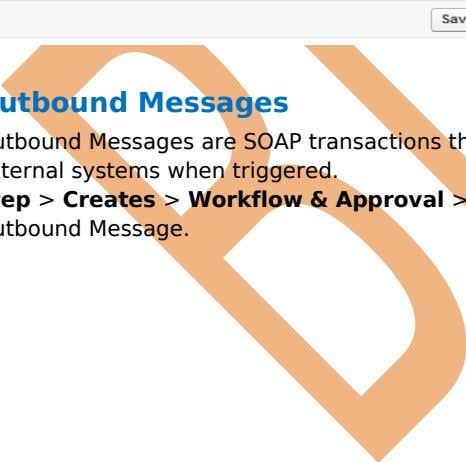 after saving this page you can Edit or Delete this page. Outbound Messages Outbound Messages are
