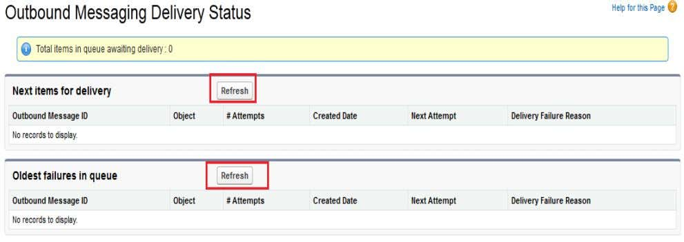 Status click on View Message delivery Status button. Settings Step > Creates > Workflow &