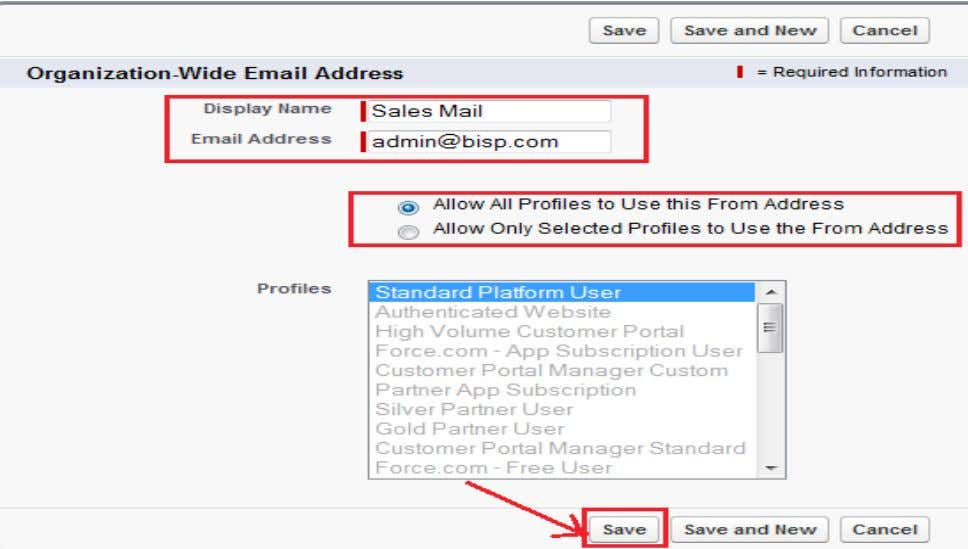 Address and select User Profiles and click on Save button. www.bispsolutions.com Page 4 www.bisptrainigs.com