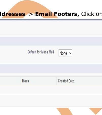 footers match the outgoing email's character encoding. Setup > Administration > Email Addresses >