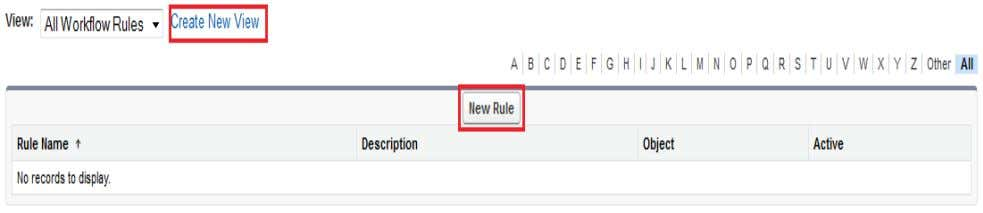 option is New Rule button. Click on New Rules button. Step 3 : Select any Custom