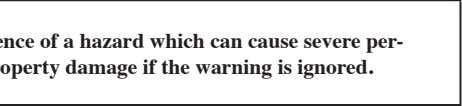 Warning is used to indicate the presence of a hazard which can cause severe per-