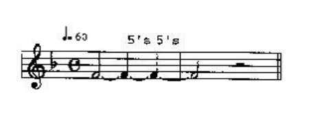 extremely wide so you can hear whether the rhythm is steady. This exercise should be practiced