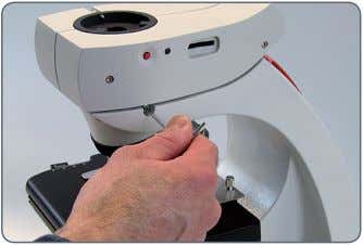 the Leica ICC 50) into the stand support. 4. Tighten the set screw firmly without forcing
