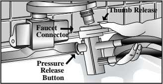 Thumb Release Faucet Connector Pressure Release Button