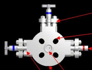 Type double block and bleed (flange with slotted holes) Primary Isolate Needle valve Slotted Holes
