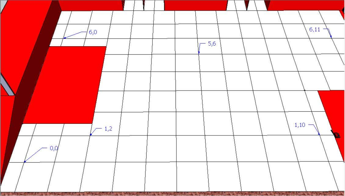 Figure 5: Grid Zone Note: In Level 2, two bricks will be placed permanently on (5,