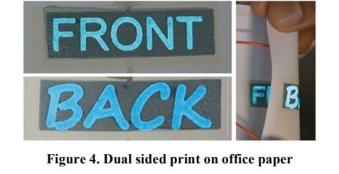 Figure 4. Dual sided print on office paper