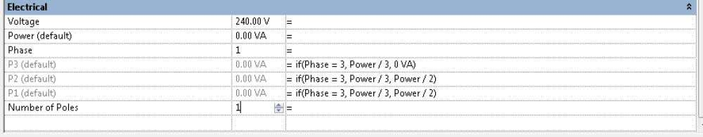 3. Enter the following formulas as listed below. NOTE: The per-phase power parameters (P1, P2, and