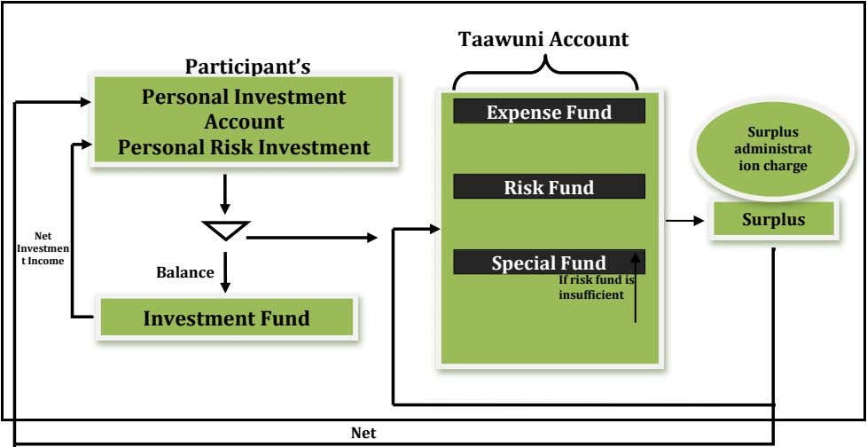 Taawuni Account Participant's Personal Investment Account Expense Fund Surplus Personal Risk Investment administrat ion charge Risk