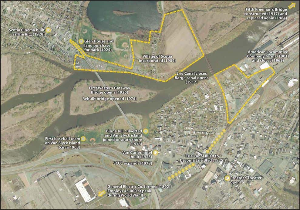 Schenectady-Scotia Waterfront Market and Feasibility Study Figure 3c. Study area and vicinity from the mid-19th