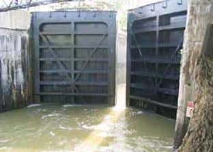 211 feet. Fathometer readings were taken in October 2003. Erie Canal lock Th e surveyed elevations