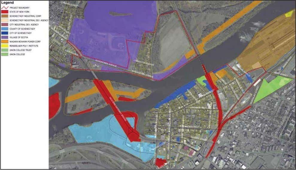 Schenectady-Scotia Waterfront Market and Feasibility Study Figure 4h. Parcel ownership tion.) In order to develop any