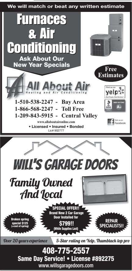 We will match or beat any written estimate Furnaces Furnaces & & Air Air Conditioning