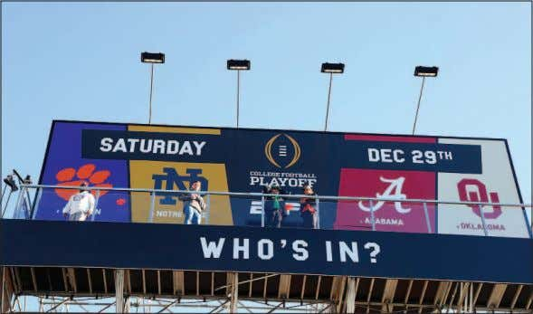 advertising cam- paign promoting the Jan. 7 ti- tle game. Chosen fans of Alabama, Oklahoma, Clemson