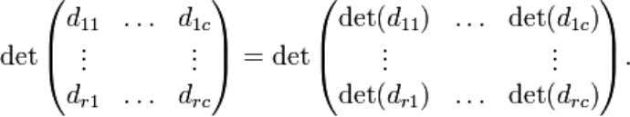 [ 3 ] If d i j are diagonal matrices, then [4] Relationship to trace From