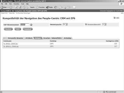 detailed procedure for installing the navigation compatibility between SAP CRM 4.0 and EP 6.0 is shown: