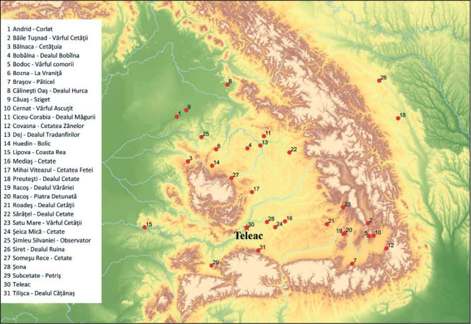 178 Claes Uhnér et al. Fig. 1 Location of the Teleac hillfort and forti f ed