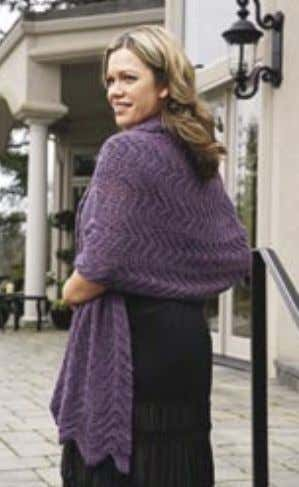 Knit Rep Rows 1-4 until desired length. Bind off loosely. Andean Treasure Shawl Loosely CO 110