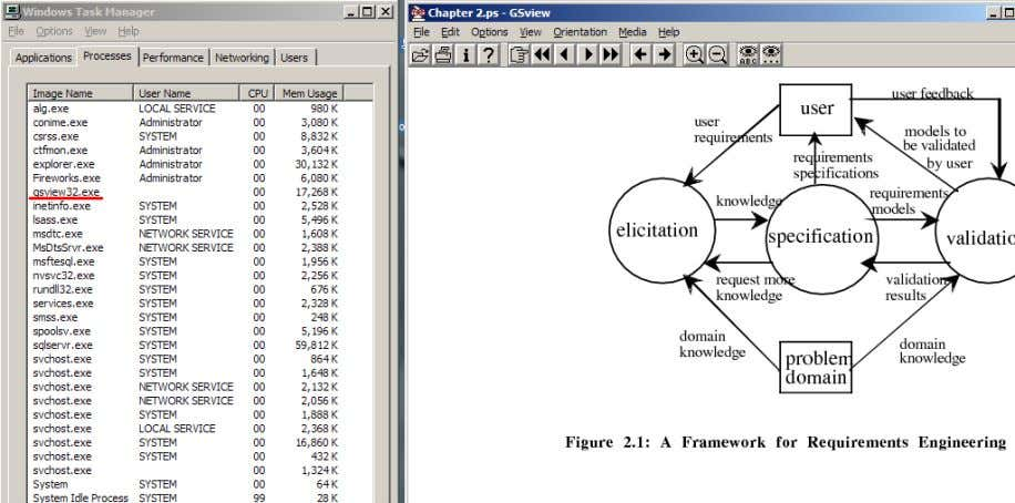 graphs and texts is displayed the GSView32 version 4.7. Figure 4 A postscript document is opened