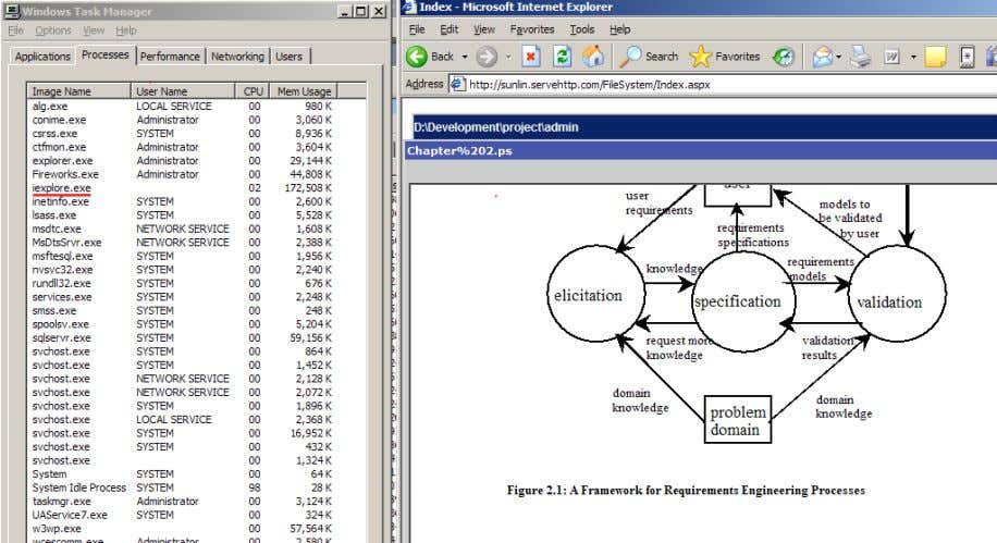 Figure 5 a postscript document is opened in the web based editor. Result: The vector