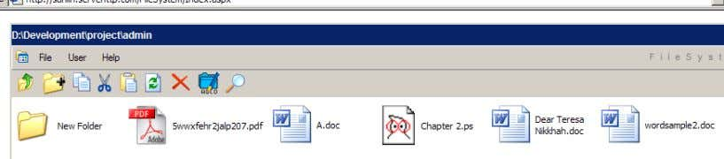 clicked, a folder with the specified folder name is created Figure 16 the folder is created