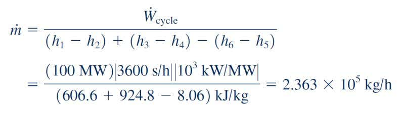 with the expression for net power given in part (a). (c)The rate of heat transfer from