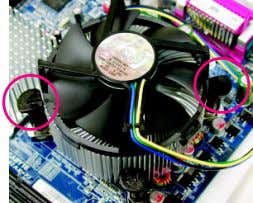 of CPU cooler paste on the surface of the installed CPU. Fig. 3 Place the CPU