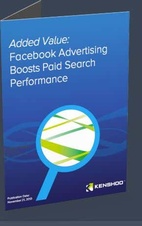 "in AOV 7% higher paid search CTR 4.5% drop in CPA Source: Kenshoo ""Facebook Advertising Boosts"