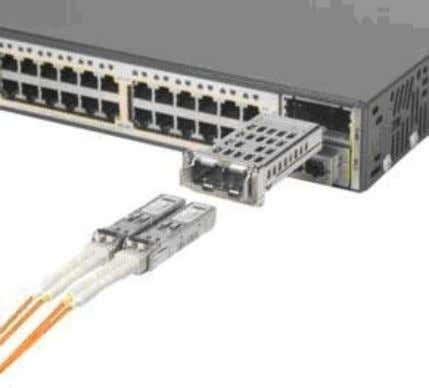 different connectors. SFP is as shown in the figure below A 1-port Gigabit Ethernet uPIM is