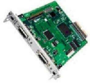 network media types through two serial interface ports. The key features of dual-port serial PIM are