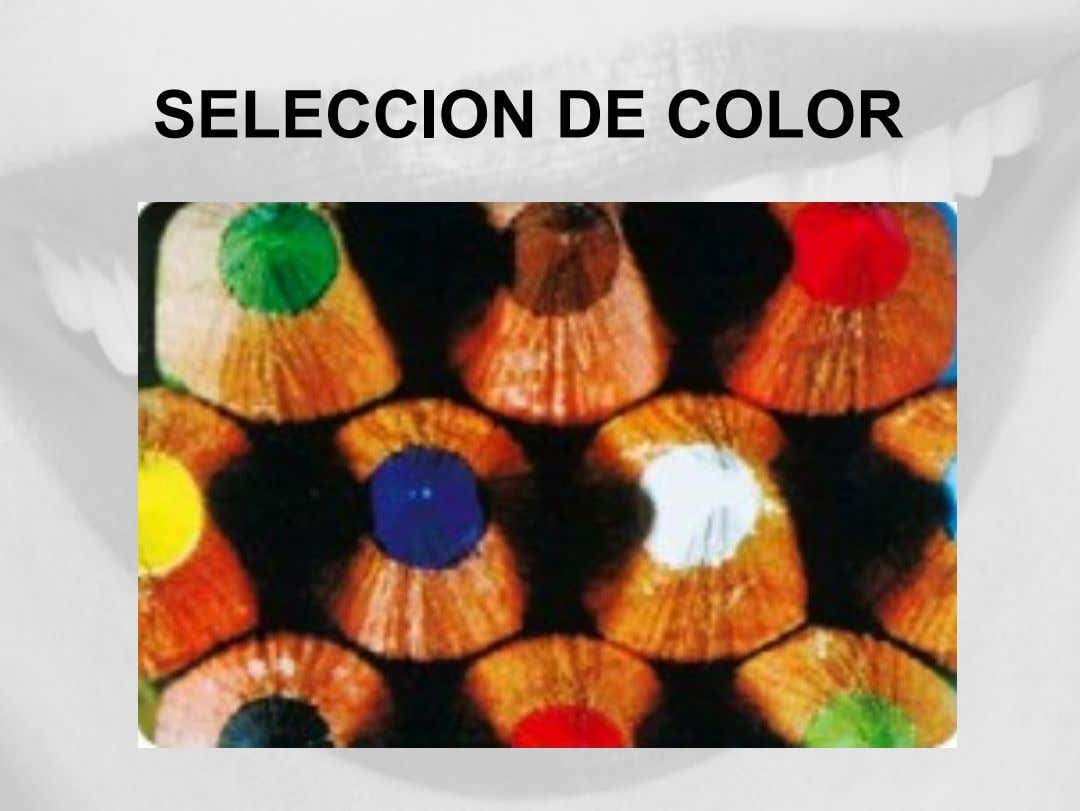 SELECCION DE COLOR