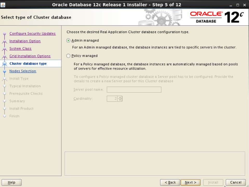 Action: Click 'Admin managed' . Then click ' Next>' 49