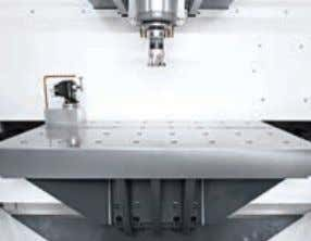 1 Z axis 380 mm 2 + Lowered costs Optimum chip removal and simple chip disposal